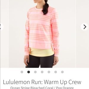 Lululemon Run Warm Up Crew size 6